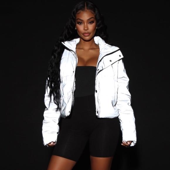 Fashion Nova Jackets & Coats   Fashion Nova See My Reflection Jacket Silver    Poshmark